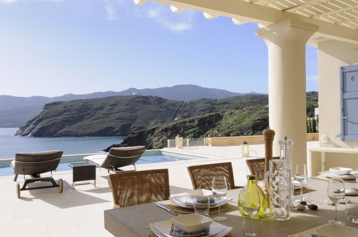 luxury villa andros