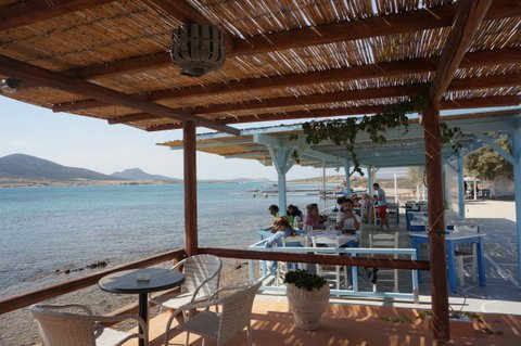 Taverna by the beach in Antiparos