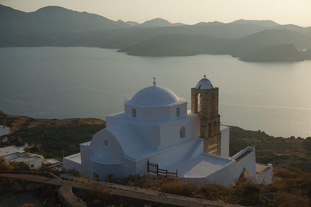 Church in Milos Island Greece