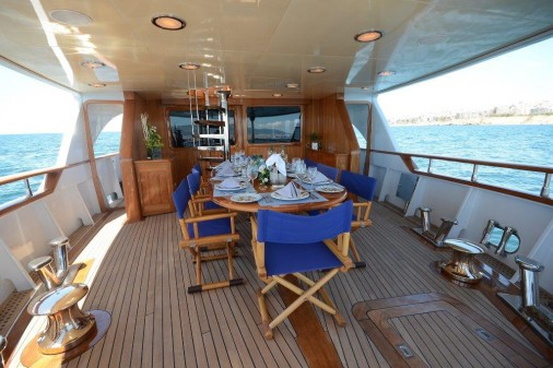 Deck View of the Camelia Yacht in Fiscardo - Kephalonia