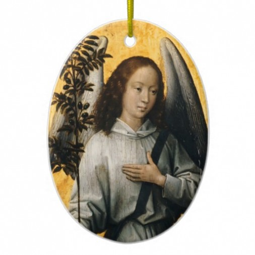 Hans Memling's Angel with Olive Branch