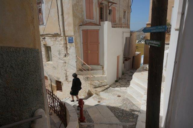 Narrow Alleys in Syros