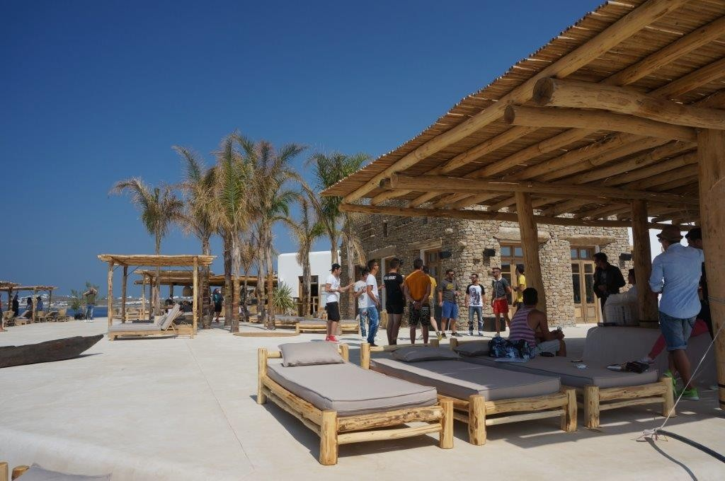 Scorpio beach restaurant in Mykonos