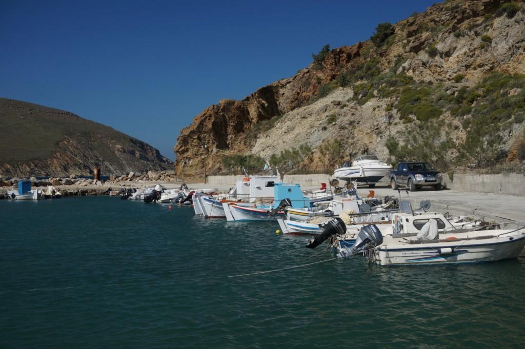 Picturesque harbor in Paros