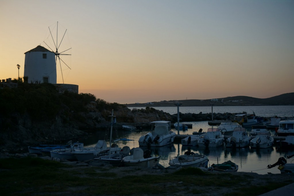 Windmill in the sunset - Paros, Parikia