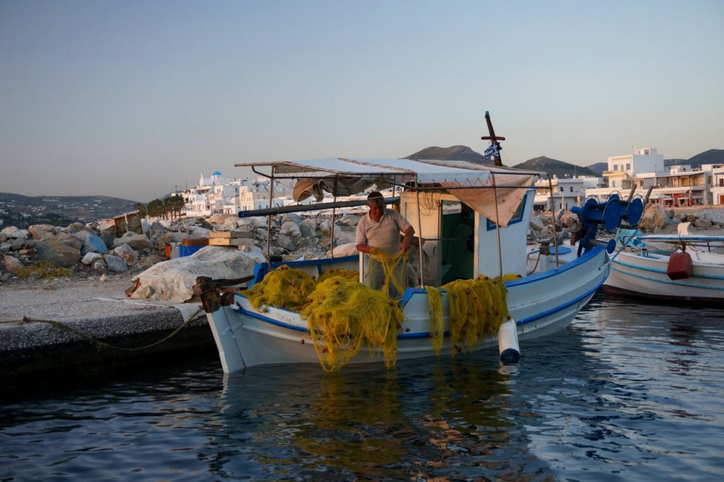 Traditional Fishing Boat in Paros