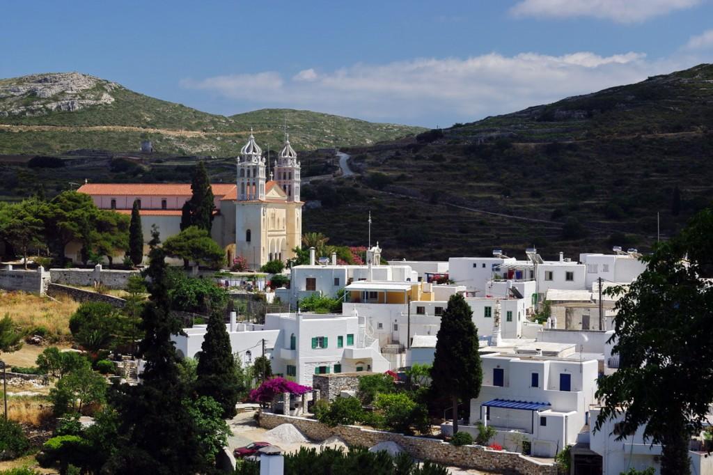 Lefkes Village in Paros, Greece