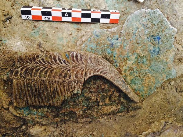Gold necklaces found in Pylos