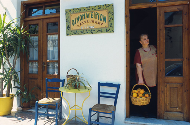 Traditional Taverna in Gythio on the South East of Mani