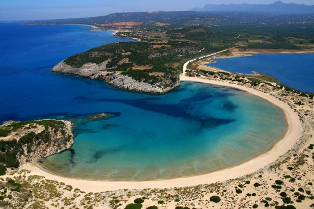 Voidokilia Beach in Mani