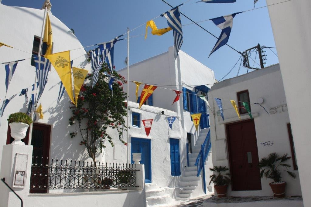 Mykonos Fest - A typical street