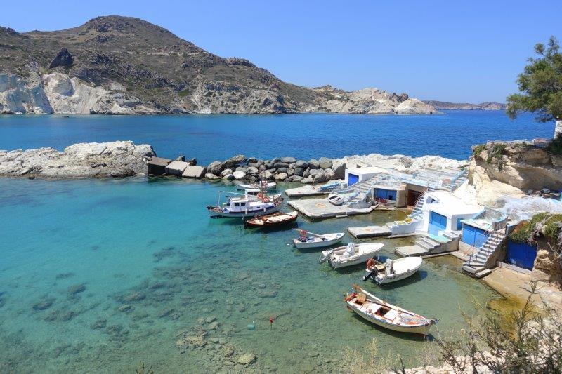Picturesque Harbor in Milos - 2905