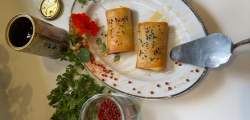 Angelina cooks…. Feta  and filo parcels- with a twist.